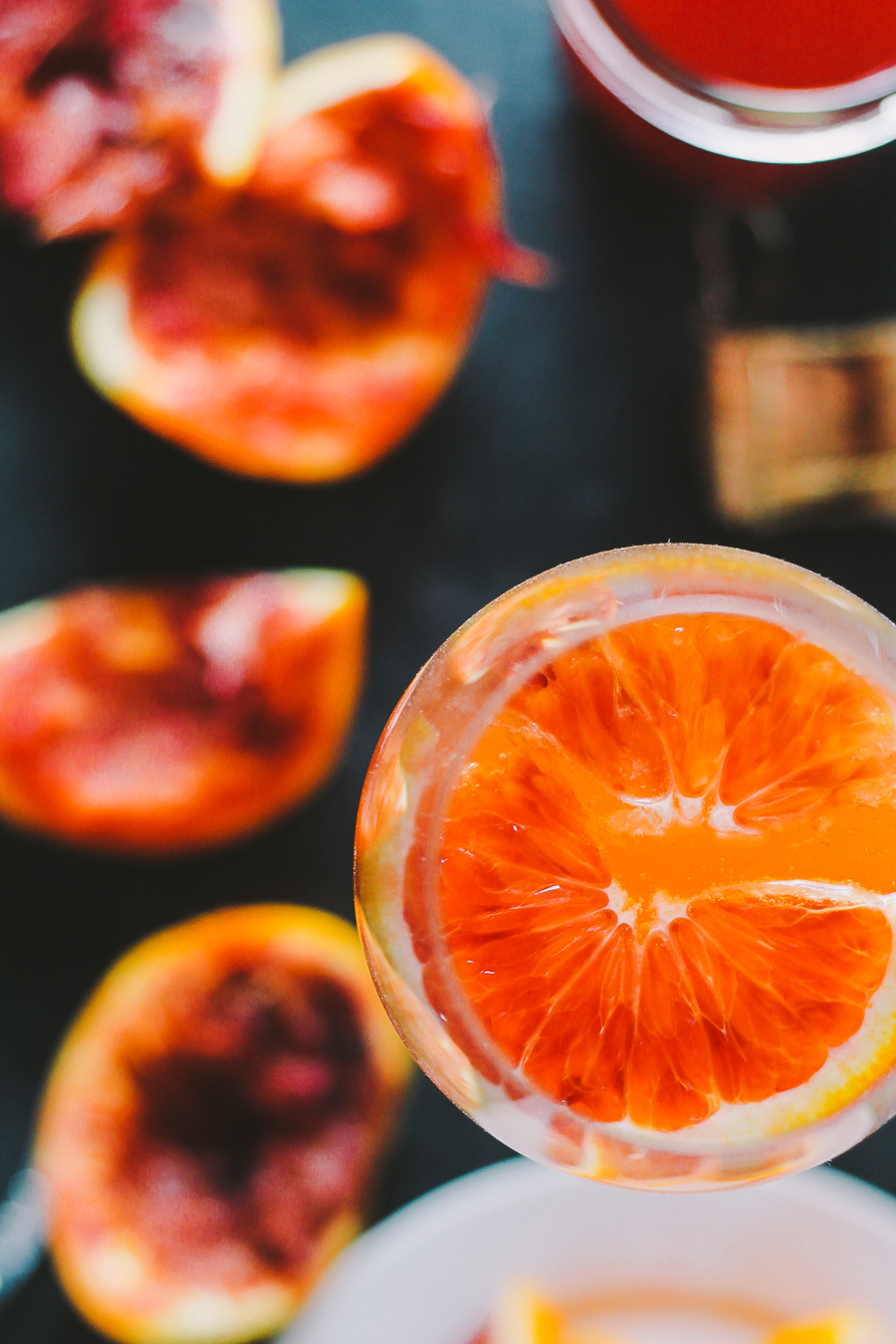 an update to a classic mimosa, these winter citrus mimosas are lightly sweetened with a homemade blood orange & honey syrup   mimosas   mimosa recipe   brunch cocktails   cocktails   cocktails recipe
