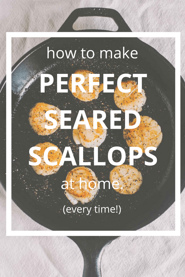 how to make perfectly seared scallops at home!