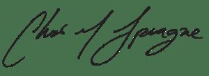 tCubed Co-Founder Chris Sprague Signature