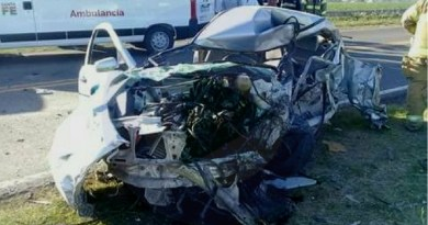 Falleció un esperancino en impresionante accidente