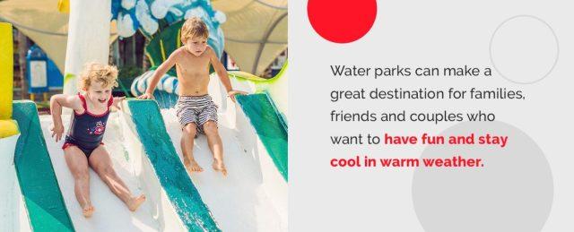 Outdoor and indoor water park benefits