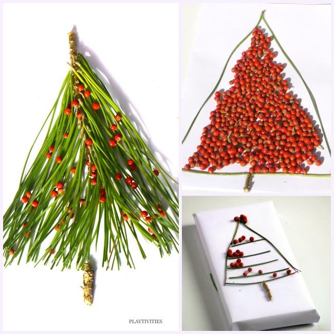 3 Christmas Tree Crafts From Nature PLAYTIVITIES