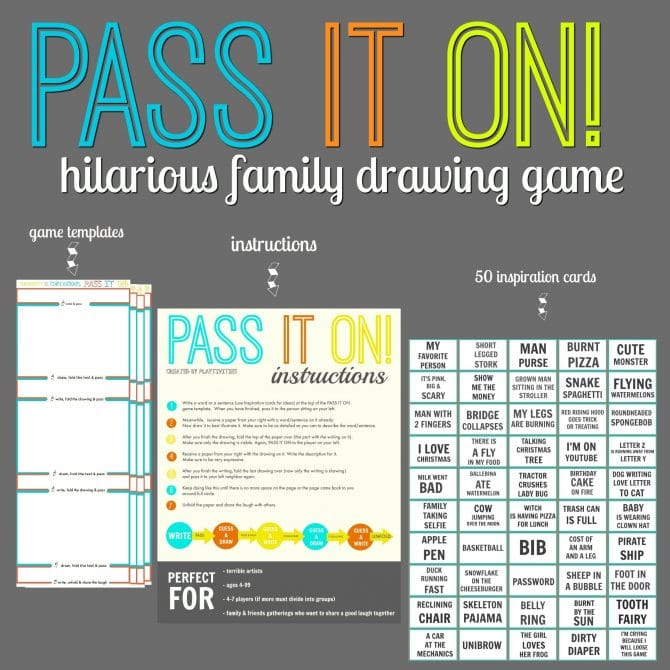 PASS IT ON A Hilarious Family Drawing Game PLAYTIVITIES