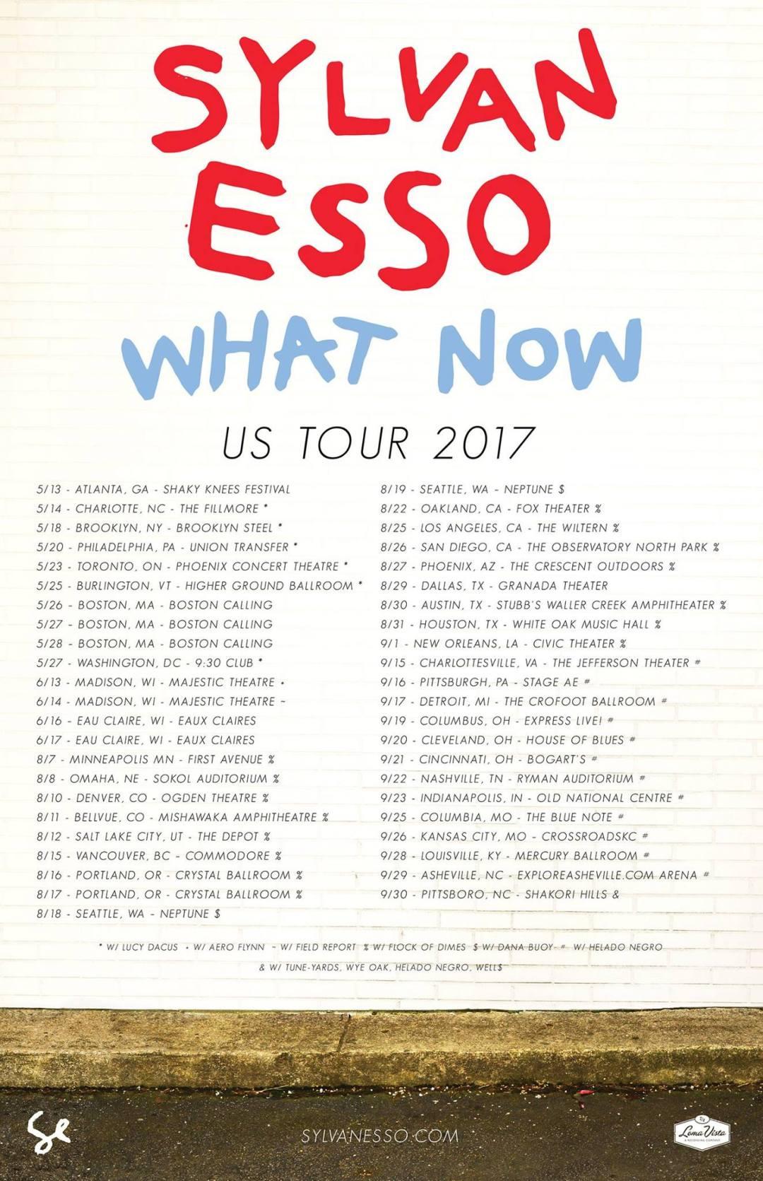 Sylvan Esso tour