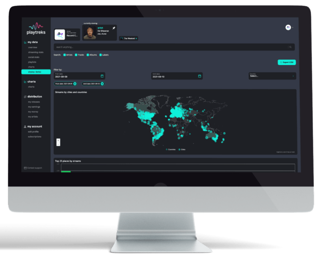 playtreks, unlimited metadata, music distribution, radio airplay monitoring, blockchain marketplace, digital proof of ownership, and easy-to-use conversion of your creation into NFT
