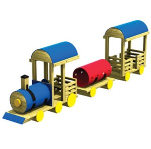 Wood playground wooden freight train