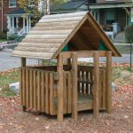 Wood playground wooden play hut
