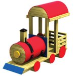 Wood playground wooden playwood steam engine