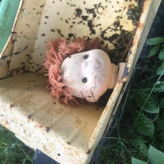 Tonka Truck/Doll Head