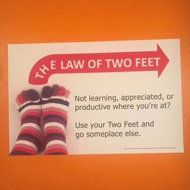 Law Of Two Feet Poster