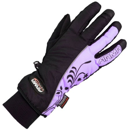 Armr Moto LWP225 Motorcycle Gloves Black/Purple