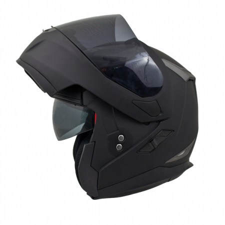 MT Flux Motorcycle Helmet Matt Black