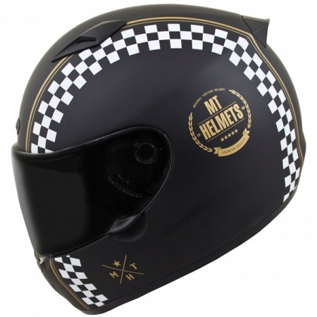 MT Matrix Cafe Racer Motorcycle Helmet