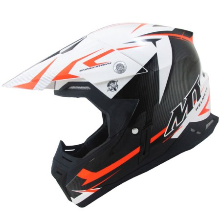 MT Synchrony Steel Motocross Helmet Black/Orange