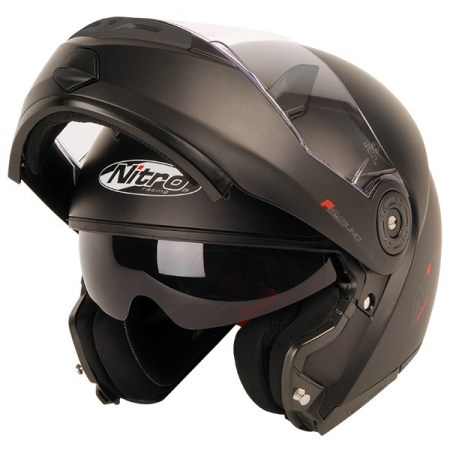 Nitro F345 Uno Flip Front Motorcycle Helmet Matt Black