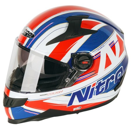 Nitro N2200 Sterling Motorcycle Helmet Blue