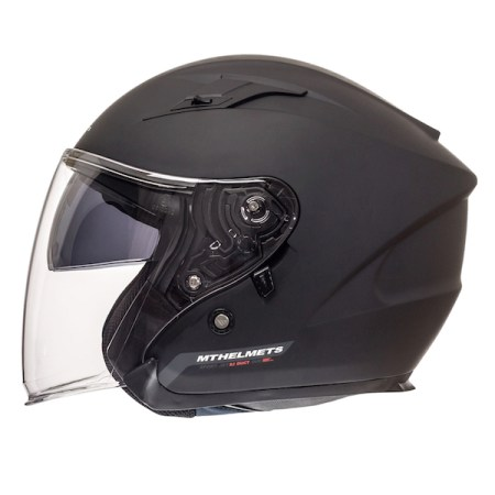 MT Avenue Open Face Motorcycle Helmet Matt Black