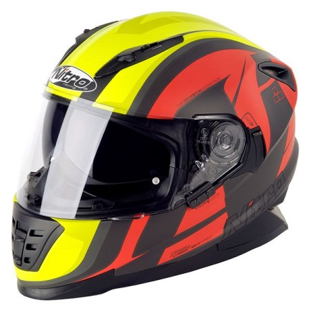 Nitro NRS-01 Pursuit Motorcycle Helmet Matt Black