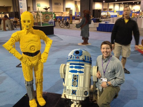 AG hanging out with R2D2.