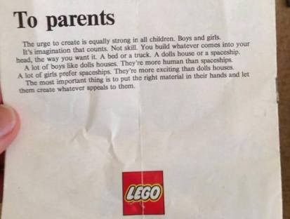 LEGO Letter to Parents