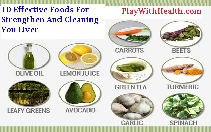 10 Effective Foods and Tips For Strengthen and Cleaning Your Liver