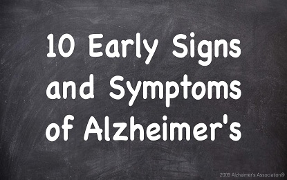10 Early Symptoms Which Gives Direct Signs of Alzheimer