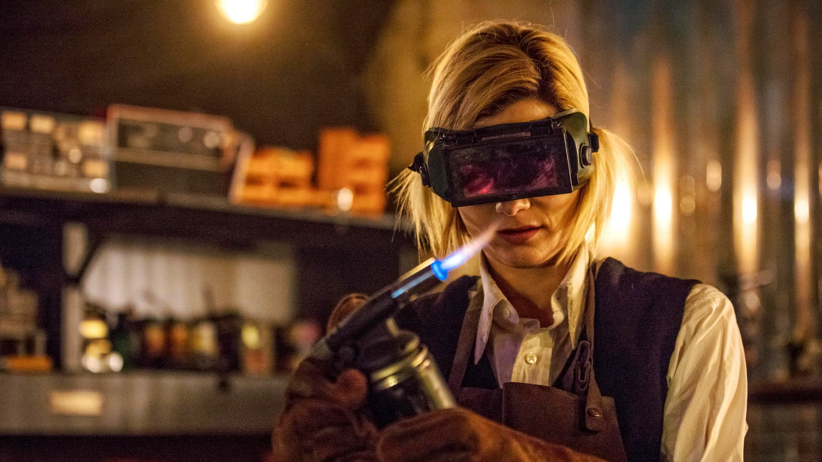 Jodie Whittaker in Doctor Who episode The Woman Who Fell To Earth