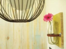RECYCLED STARBUCKS MILK JAR TURNED FLOWER VASE