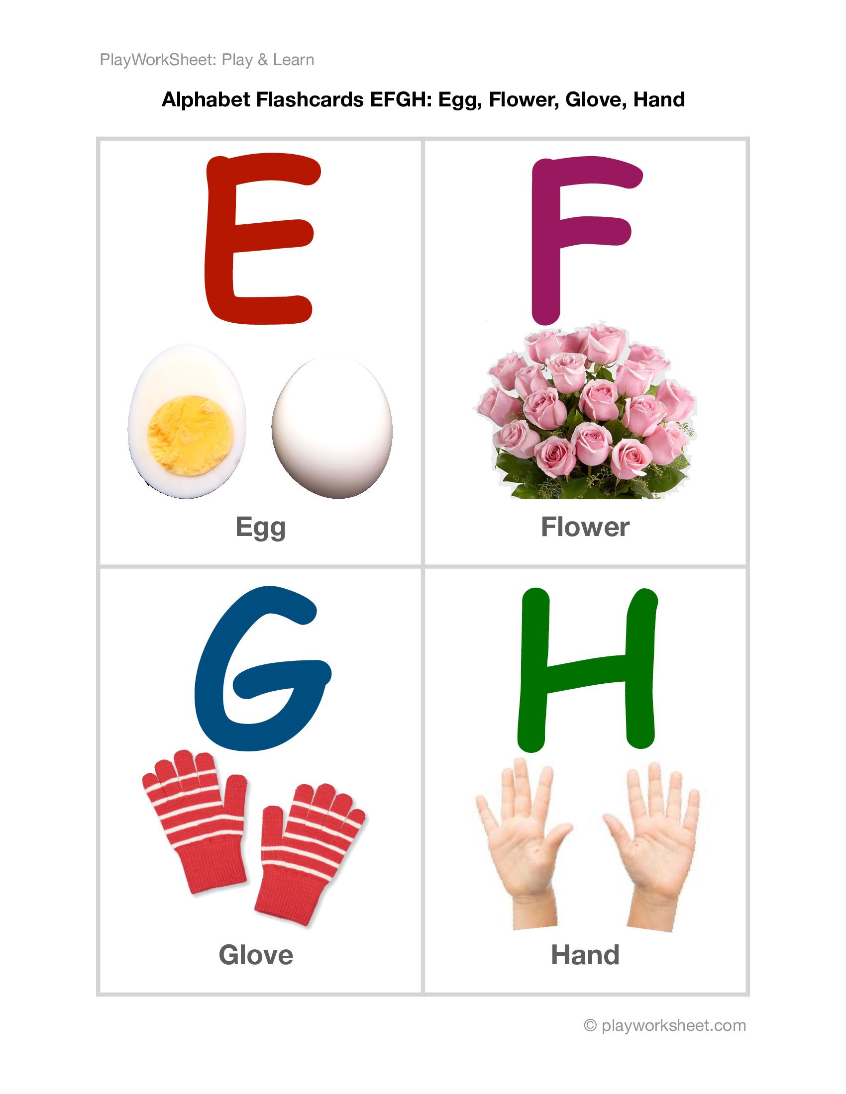 Alphabet Flashcards Efgh