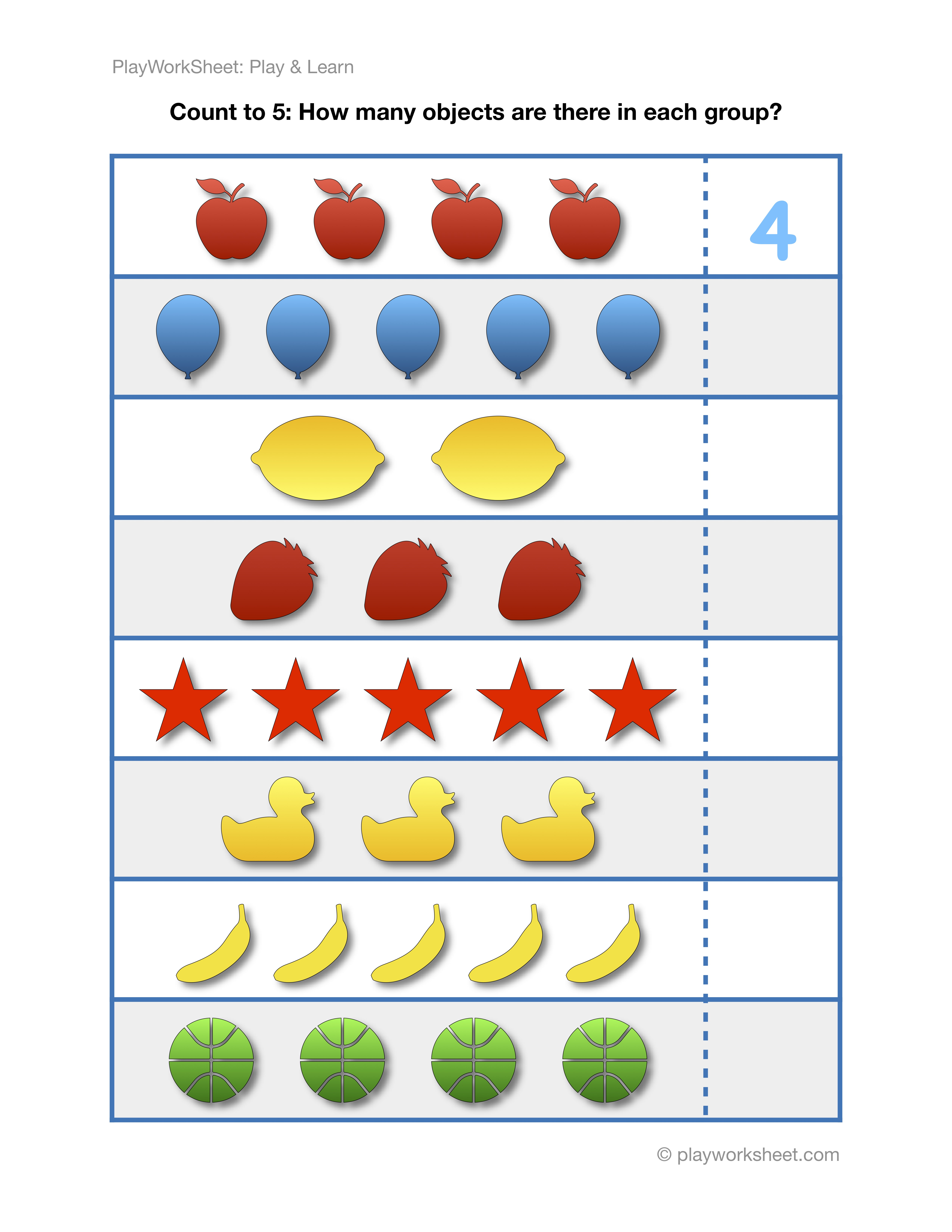 Exercises For Counting To Five