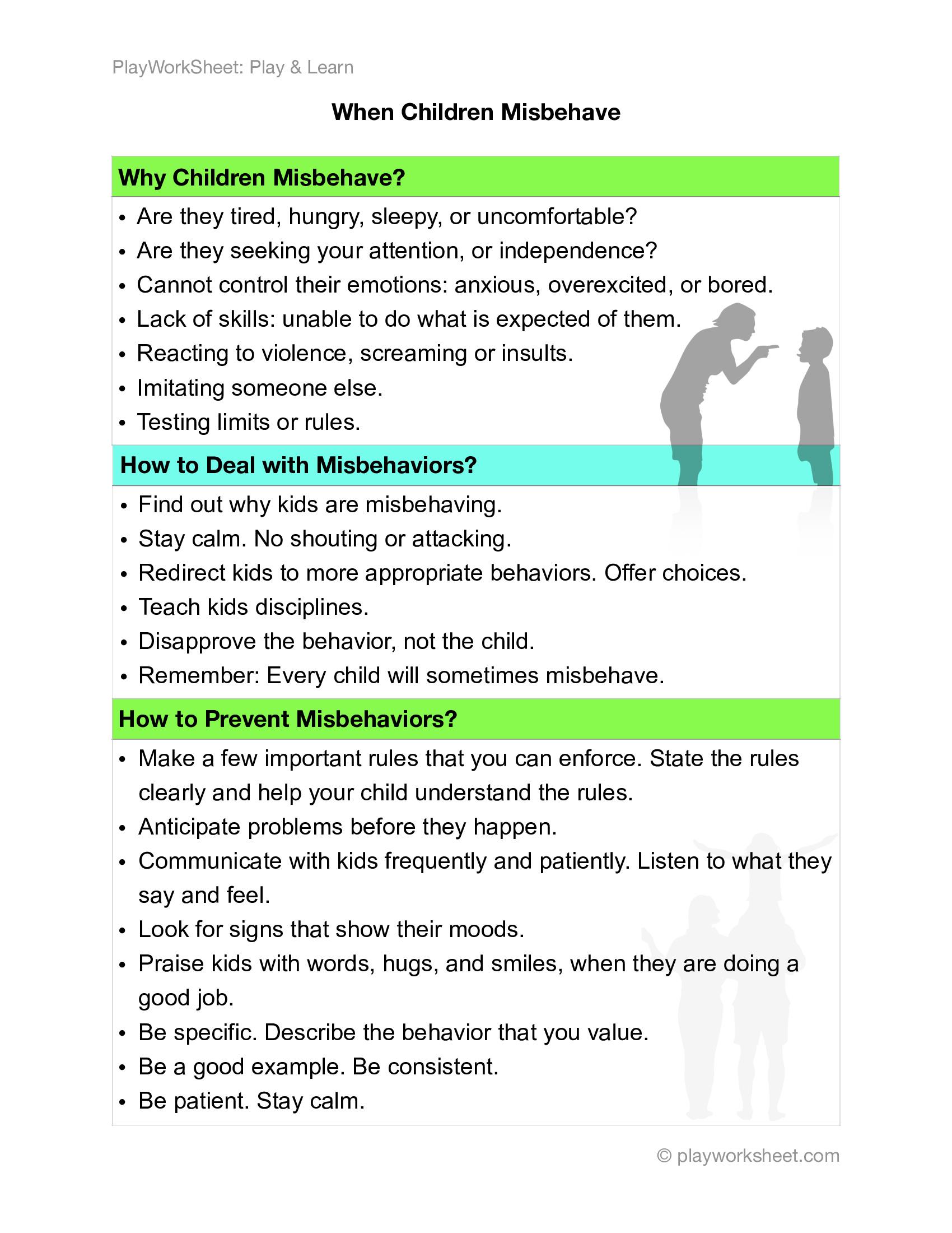 Dealing With Mishaviors