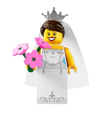 Lego-Minifigure-S7-Bride - floral