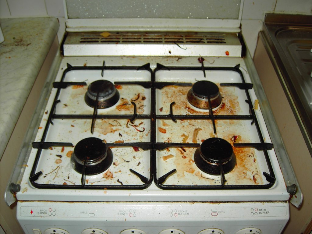 Image result for images of dirty stovetops