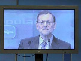 María Rajoy en rueda de prensa tras saltar a la luz el caso Bárcenas