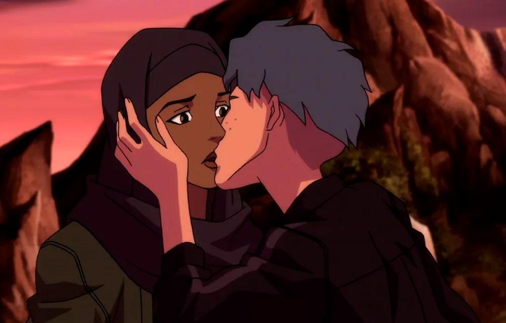 Beso lésbico en serie animada Young Justice