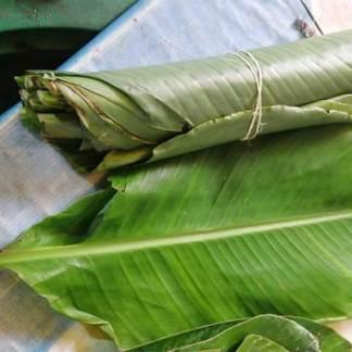 12 Hojas De Platano Para Tamales