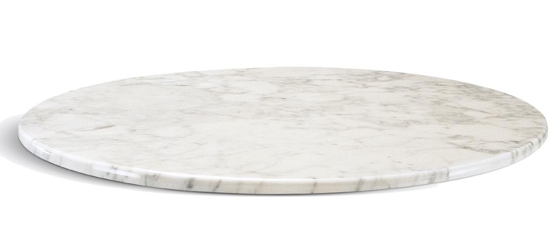 plateau de table marbre blanc carrare