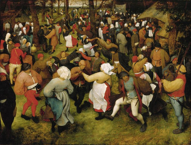 The Wedding Dance (c.1566) by Bruegel The Elder
