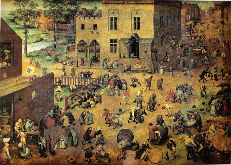 """Children's Games"" (1560), by Bruegel The Elder"