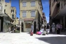 Corfu narrowing street