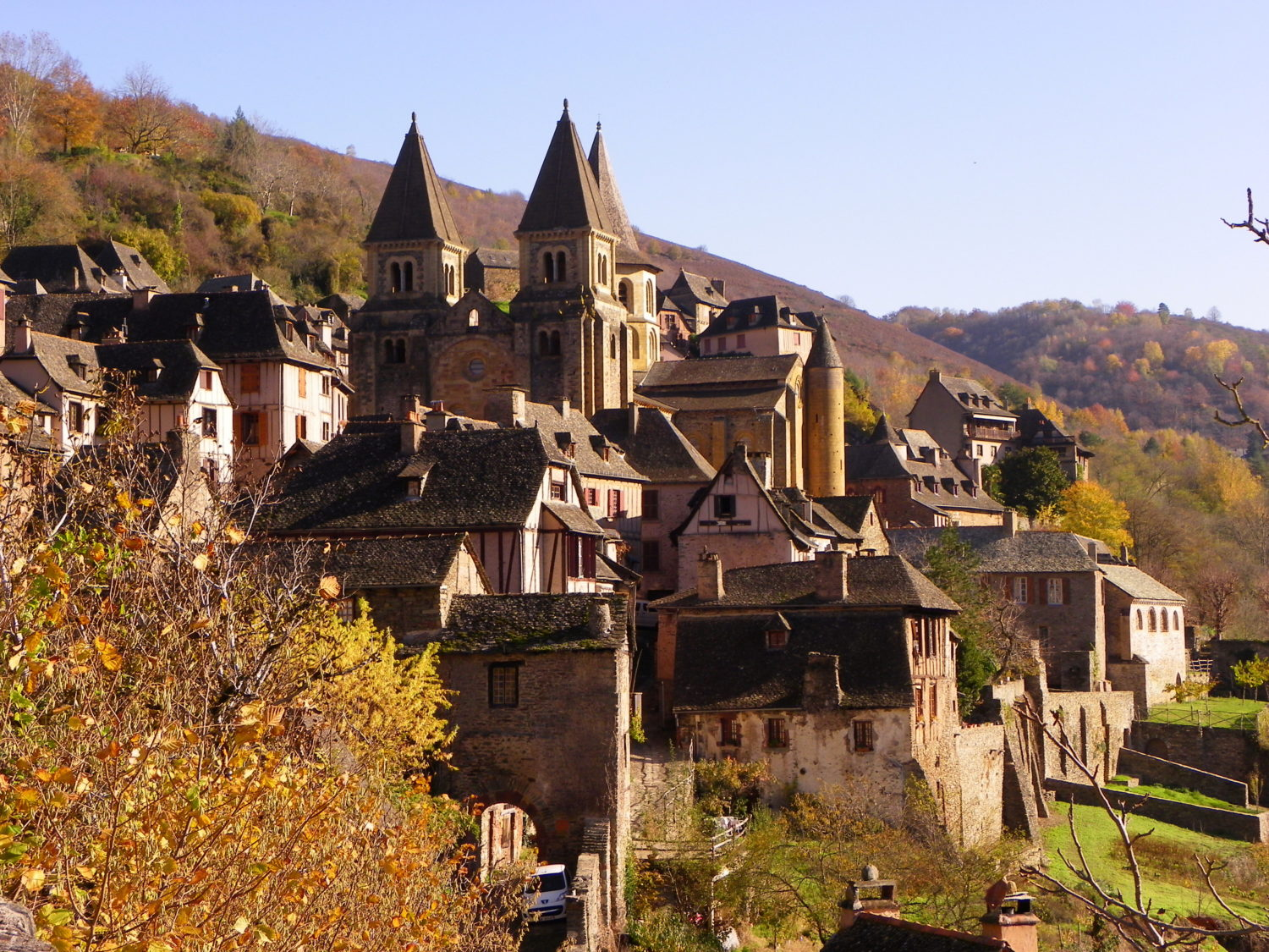 conques, france: a medieval village with the right ingredients · the