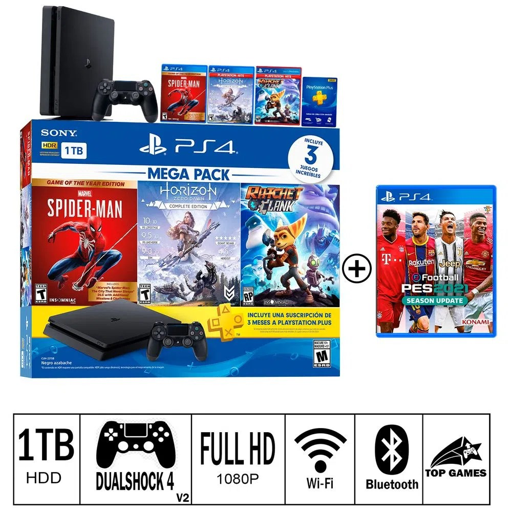 Game ps4 telah terjual dalam tiga bulan terakhir hingga 30 juni 2020. Consola Ps4 Slim 1TB Mega Pack 15 + PES 2021 - Supermercado
