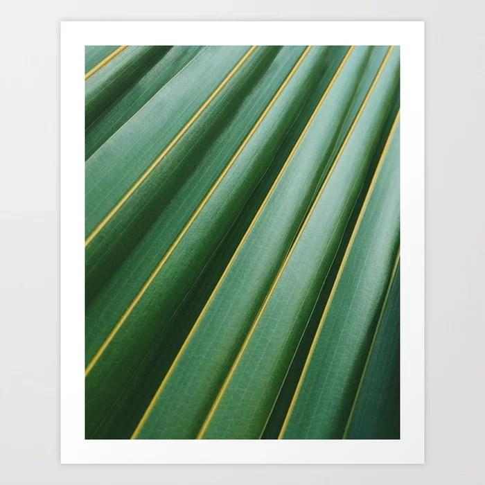 Sunday's Society6 | Green leaf pattern plant art print