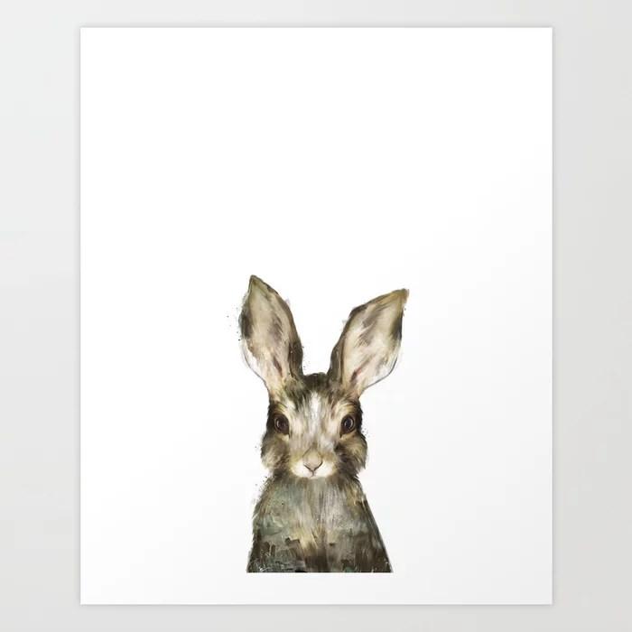 Sunday's Society6 | Little baby rabbit art print