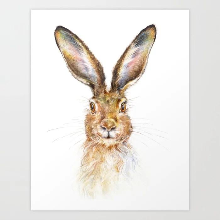 Sunday's Society6 | Hare art print