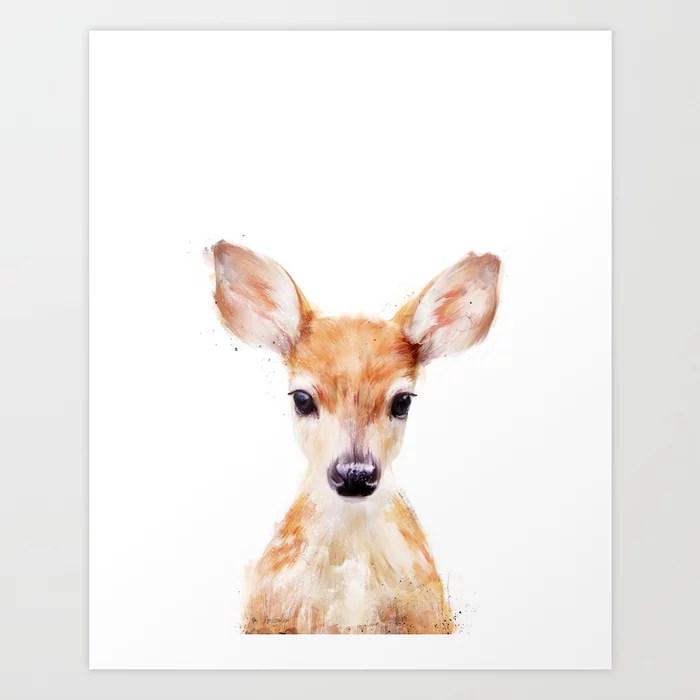 Sunday's Society6 | Little painted deer art print