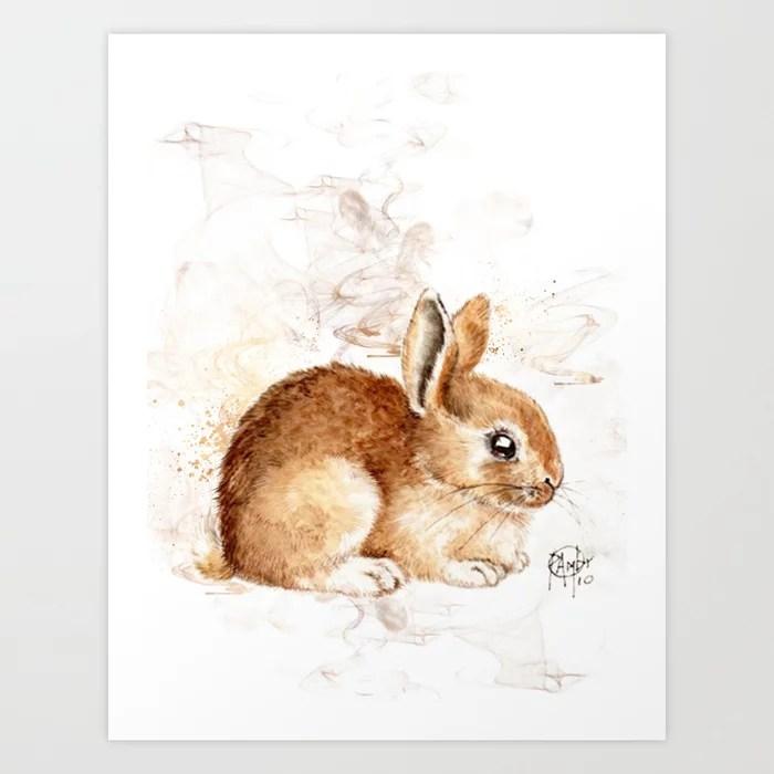 Sunday's Society6 | Little bunny art print