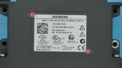 Siemens 6GK5208-0BA10-2AA3 SCALANCE X208, managed IE switch, 8x 10/100 Mbit/s