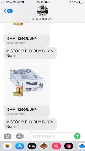 In-Stock BOT v2 – SMS Text