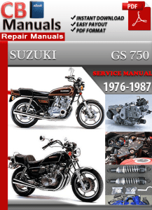 suzuki gs 750 1976-1987 service manual free download � go to download !  this suzuki gs 750